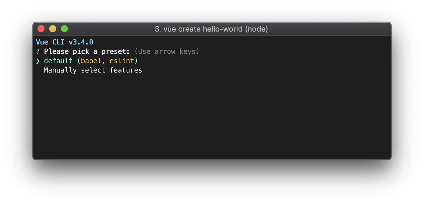Creating A Project Vue Cli 3