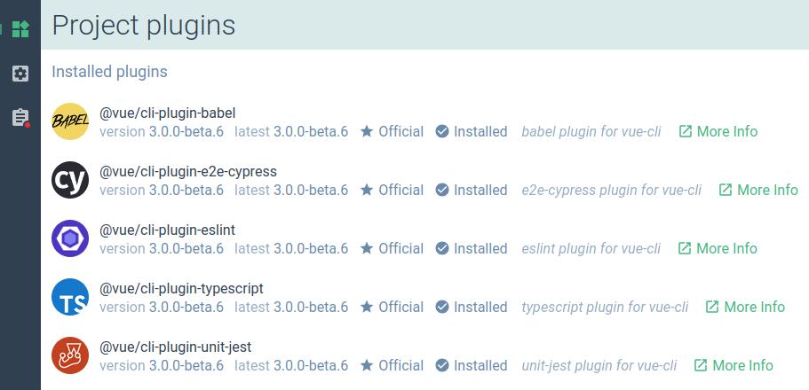 UI Plugin Info   Vue CLI